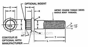 12-Point Flange Bolts Dimensions