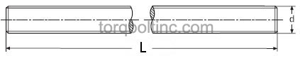 DIN 976-1 Stud bolts Dimensions
