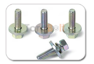 Hex Head Bolt With Plain Spring Washer