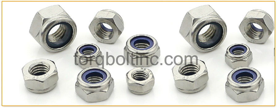 Original Photograph Of Hex Lock Nuts Nylon Insert At Our Factory