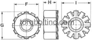 K-Lock Nuts Dimensions