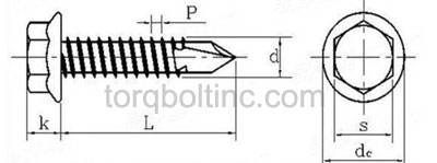 Self Drilling Screw Dimensions