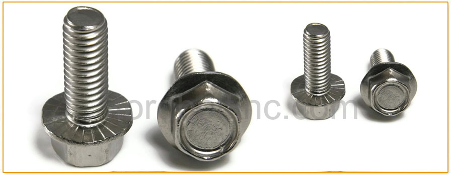 Original Photograph Of Serrated Flange Bolts At Our Factory