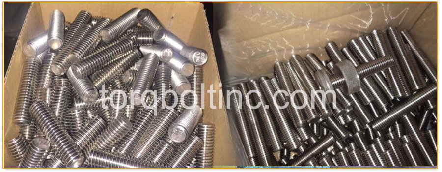 Original Photograph Of A453 Grade 660 Bolts  At Our Factory