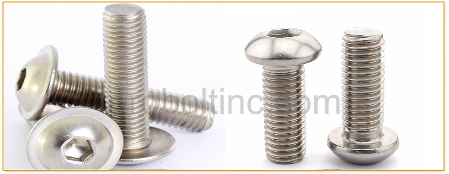 Original Photograph Of Button Head Bolts At Our Factory