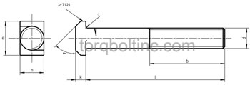 DIN 188 – Tee-Head Bolts With Double Nip Dimensions