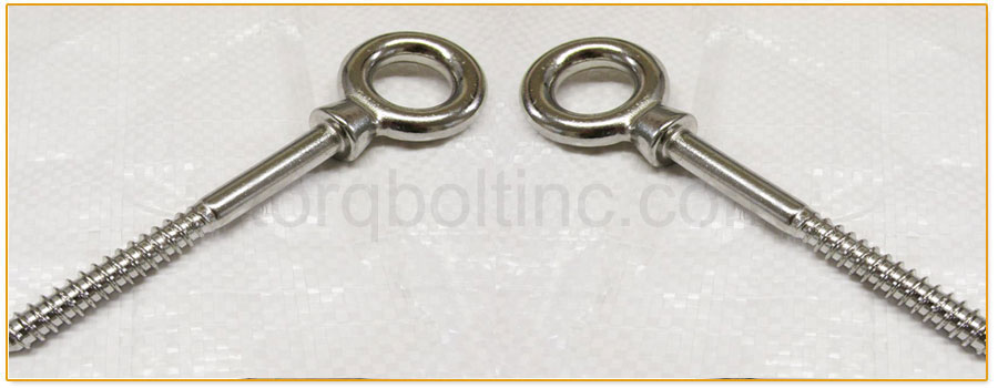 Original Photograph Of Screw Thread Eye Bolt At Our Factory