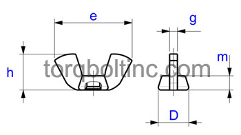 Wing Nuts Dimensions